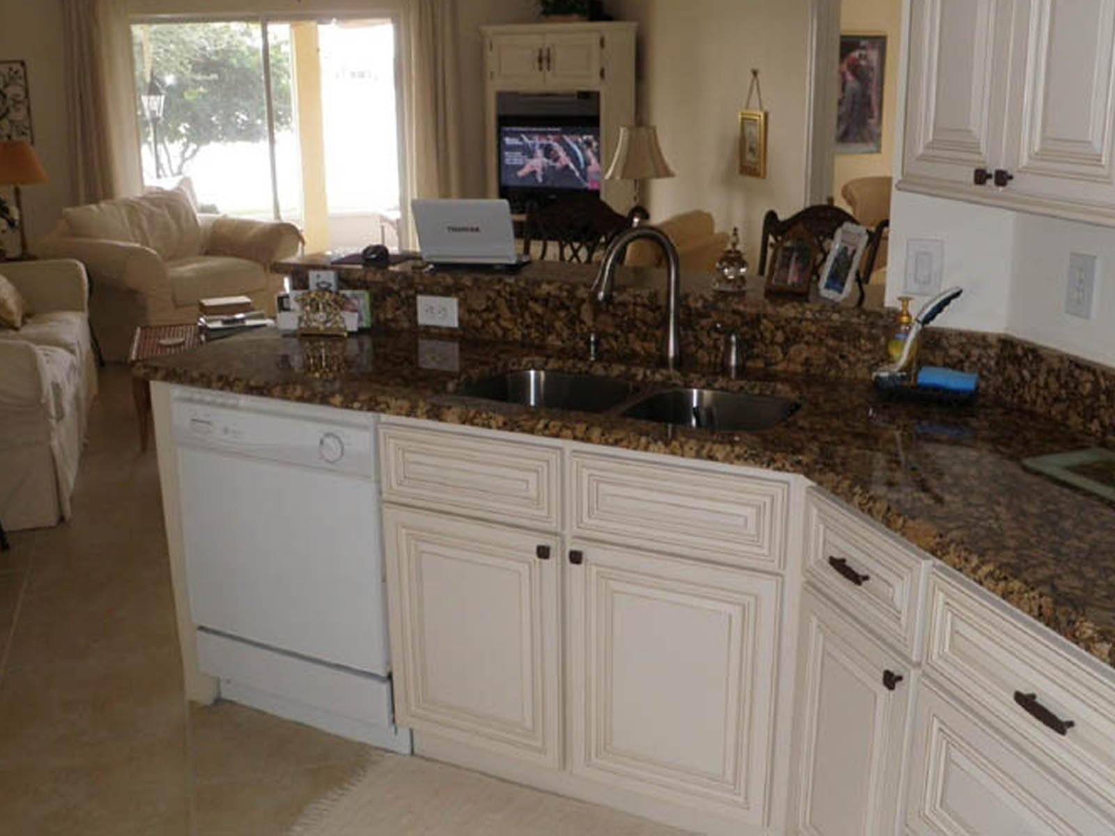 ... Cabinets; Kitchen With Granite Countertops